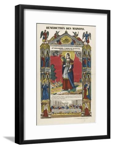 Saint Philomena, Virgin and Martyr, Blessing of Homes--Framed Art Print