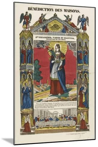 Saint Philomena, Virgin and Martyr, Blessing of Homes--Mounted Giclee Print