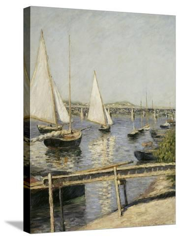 Voiliers à Argenteuil-Gustave Caillebotte-Stretched Canvas Print