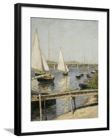 Voiliers à Argenteuil-Gustave Caillebotte-Framed Art Print