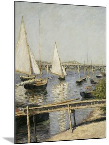 Voiliers à Argenteuil-Gustave Caillebotte-Mounted Giclee Print