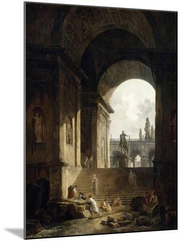 Vue pittoresque du Capitole-Hubert Robert-Mounted Giclee Print