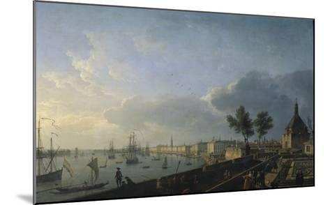 Second View of the Port of Bordeaux, Château Trumpet-Claude Joseph Vernet-Mounted Giclee Print