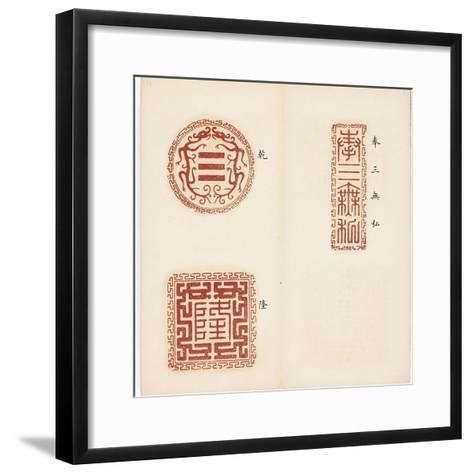 Recueil de sceaux--Framed Art Print