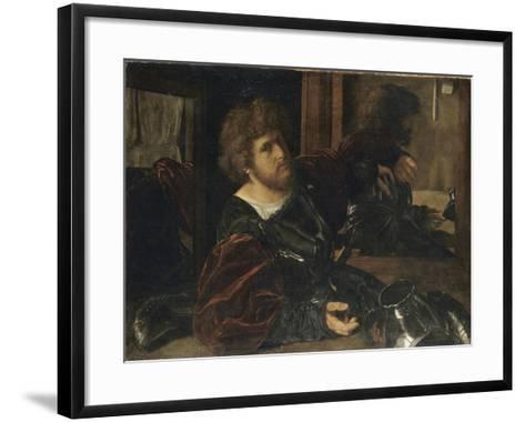 Autoportrait, dit autrefois portrait de Gaston de Foix-Giovanni Girolamo Savoldo-Framed Art Print