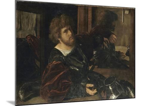 Autoportrait, dit autrefois portrait de Gaston de Foix-Giovanni Girolamo Savoldo-Mounted Giclee Print