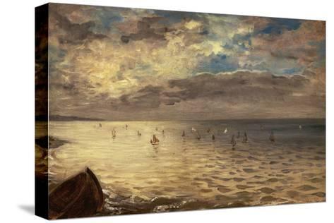 La Mer vue des hauteurs de Dieppe-Eugene Delacroix-Stretched Canvas Print