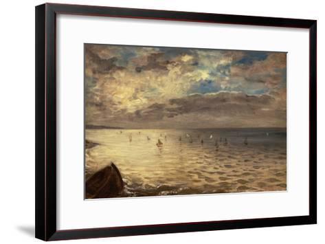La Mer vue des hauteurs de Dieppe-Eugene Delacroix-Framed Art Print