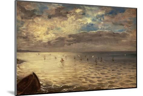 La Mer vue des hauteurs de Dieppe-Eugene Delacroix-Mounted Giclee Print