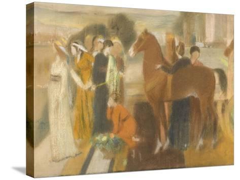 Sémiramis construisant Babylone-Edgar Degas-Stretched Canvas Print