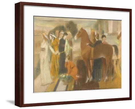 Sémiramis construisant Babylone-Edgar Degas-Framed Art Print