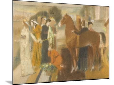 Sémiramis construisant Babylone-Edgar Degas-Mounted Giclee Print