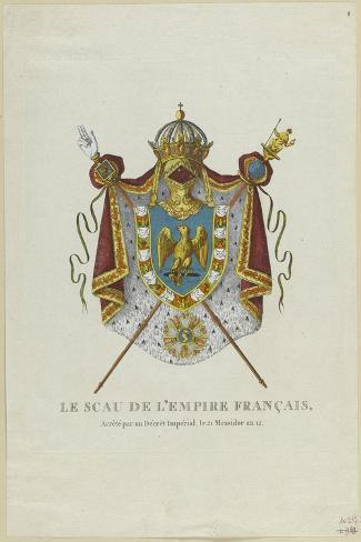 Sceau de l'Empire français--Stretched Canvas Print