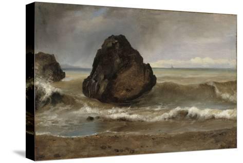Vue de mer, à Salerne-Achille Etna Michallon-Stretched Canvas Print