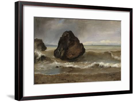 Vue de mer, à Salerne-Achille Etna Michallon-Framed Art Print