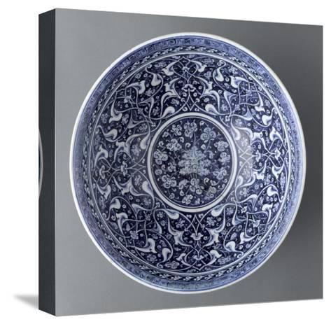 Vasque aux rumi et aux fleurs hatayi--Stretched Canvas Print