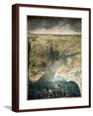 Siège de la Rochelle du 10 août 1627 au 28 octobre 1628-Jacques Callot-Framed Art Print