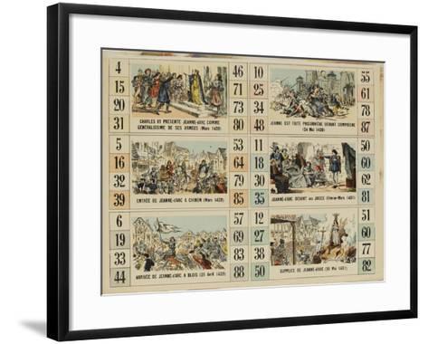 Six scènes de la vie de Jeanne d'Arc--Framed Art Print