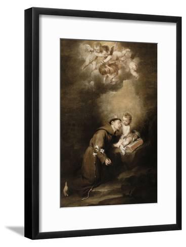 Saint Antoine de Padoue et l'Enfant Jésus-Bartolome Esteban Murillo-Framed Art Print