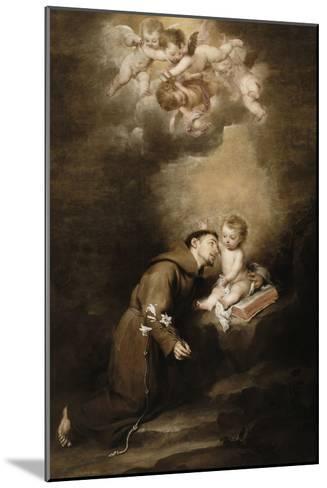 Saint Antoine de Padoue et l'Enfant Jésus-Bartolome Esteban Murillo-Mounted Giclee Print