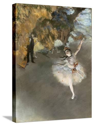 l'Etoile ou Danseuse sur sc?ne-Edgar Degas-Stretched Canvas Print