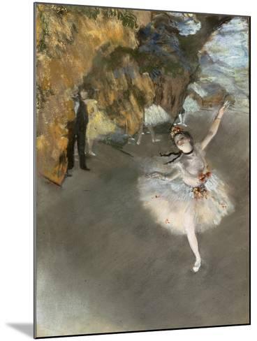 l'Etoile ou Danseuse sur sc?ne-Edgar Degas-Mounted Giclee Print