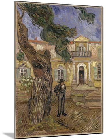 Hôpital Saint-Paul à Saint-Rémy-de-Provence-Vincent van Gogh-Mounted Giclee Print