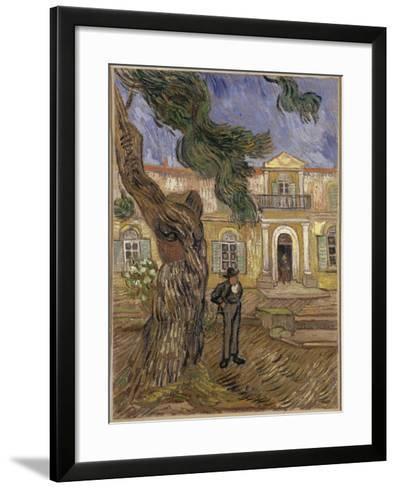 Hôpital Saint-Paul à Saint-Rémy-de-Provence-Vincent van Gogh-Framed Art Print