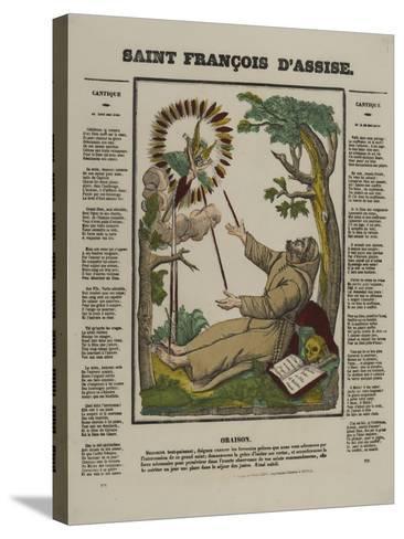 Saint François d'Assise--Stretched Canvas Print