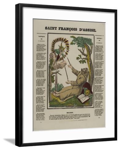 Saint François d'Assise--Framed Art Print