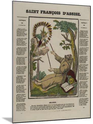 Saint François d'Assise--Mounted Giclee Print
