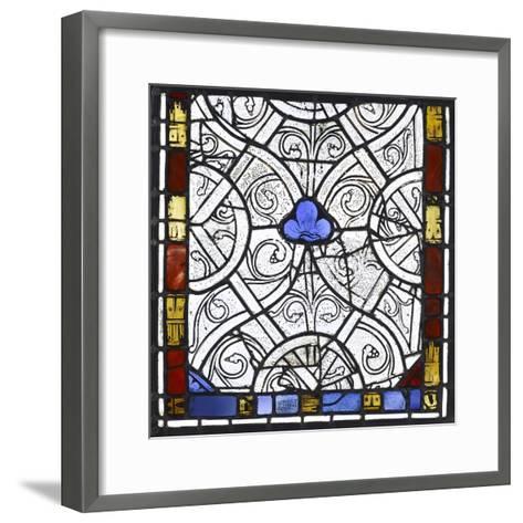 Vitrail du château de Rouen,--Framed Art Print