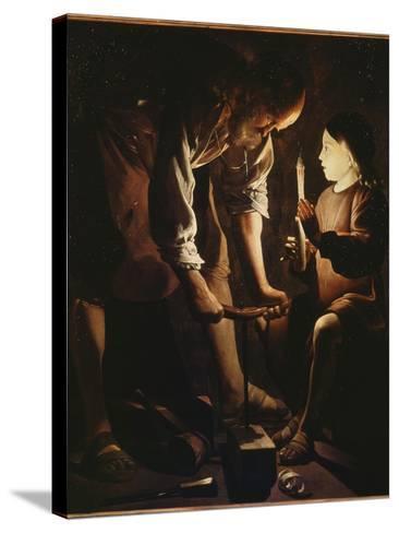 Saint Joseph charpentier-Maurice Quentin de La Tour-Stretched Canvas Print