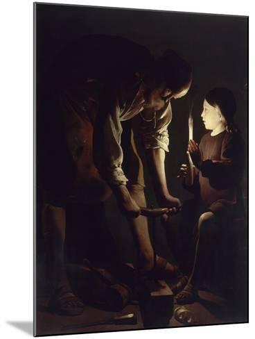Saint Joseph charpentier-Maurice Quentin de La Tour-Mounted Giclee Print