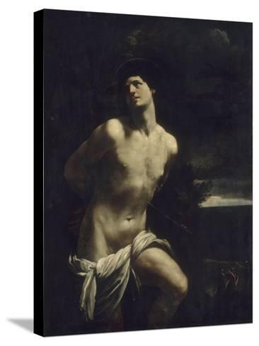 Saint Sébastien martyr dans un paysage-Guido Reni-Stretched Canvas Print