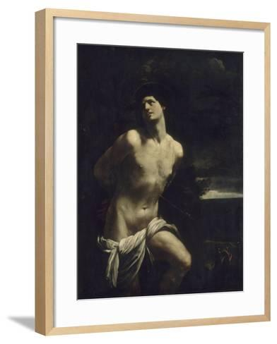 Saint Sébastien martyr dans un paysage-Guido Reni-Framed Art Print