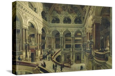 Escalier de l'Opéra à Paris-Victor Navlet-Stretched Canvas Print