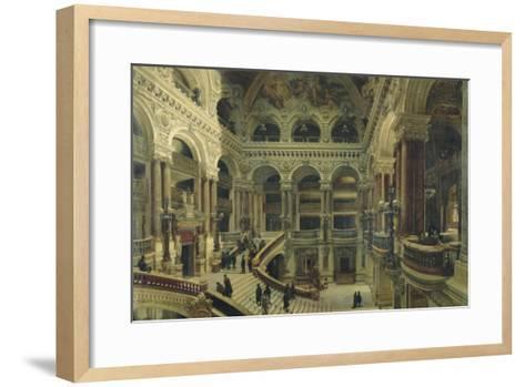 Escalier de l'Opéra à Paris-Victor Navlet-Framed Art Print