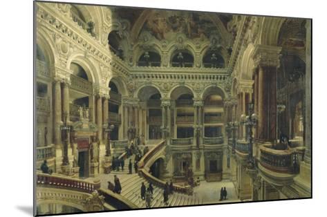 Escalier de l'Opéra à Paris-Victor Navlet-Mounted Giclee Print