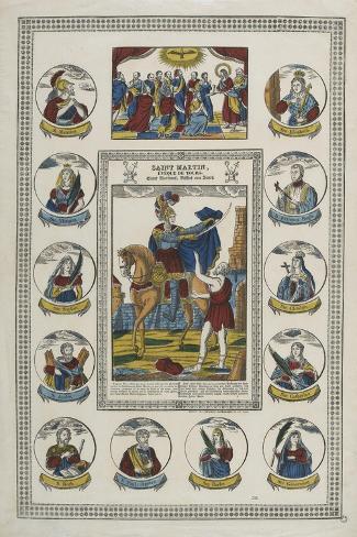 Saint Martin, évêque de Tours--Stretched Canvas Print