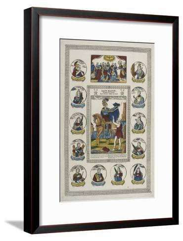 Saint Martin, évêque de Tours--Framed Art Print