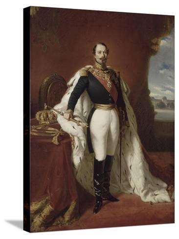Portrait en pied de Napoléon III-Franz Xaver Winterhalter-Stretched Canvas Print