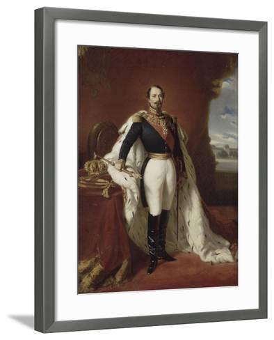 Portrait en pied de Napoléon III-Franz Xaver Winterhalter-Framed Art Print