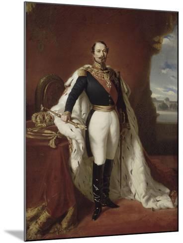 Portrait en pied de Napoléon III-Franz Xaver Winterhalter-Mounted Giclee Print