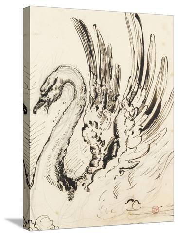 Etude de cygne pour Léda-Gustave Moreau-Stretched Canvas Print