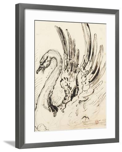 Etude de cygne pour Léda-Gustave Moreau-Framed Art Print