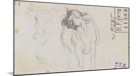 Etudes de boeuf et d'une t� de boeuf-Jean-Fran?ois Millet-Mounted Giclee Print