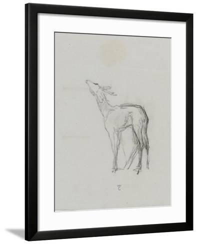 Etude de biche-Thomas Couture-Framed Art Print