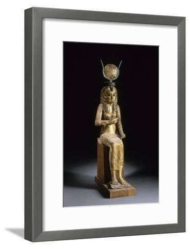 Statue of the Goddess Isis Suckling the Child Horus--Framed Art Print