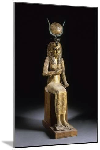 Statue of the Goddess Isis Suckling the Child Horus--Mounted Giclee Print